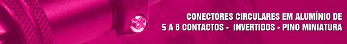 Conectores de 5 a 8 contatos - invertidos