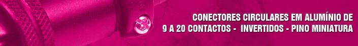 Conectores de 9 a 20 contatos - invertidos
