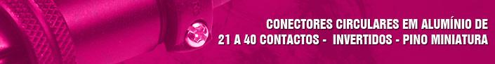 Conectores de 21 a 40 contatos - invertidos