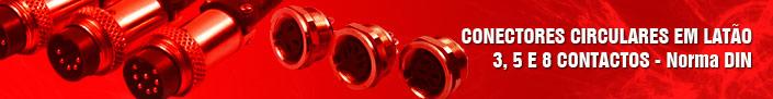 Conector 3, 5 e 8 contatos Norma DIN