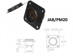 Conector p/ Painel JAB/PM20 com 20 contatos macho
