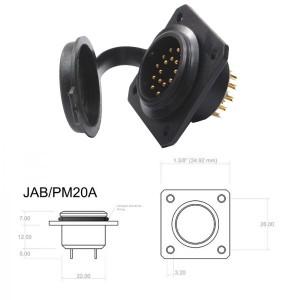 Conector p/ Painel JAB/PM20A com 20 contatos macho IP67