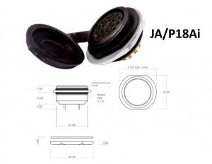 Conector p/ Painel JA/P18Ai com 18 contatos fêmea IP67