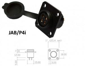 Conector p/ Painel JAB/P4i com 4 contatos fêmea