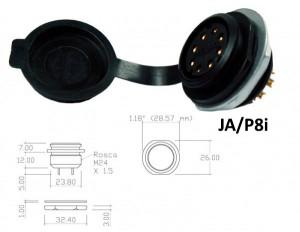 Conector p/ Painel JA/P8i com 8 contatos fêmea