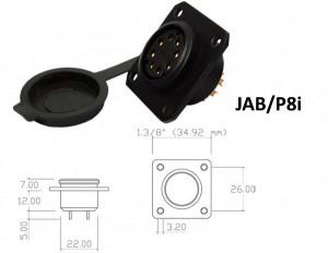 Conector p/ Painel JAB/P8i com 8 contatos fêmea