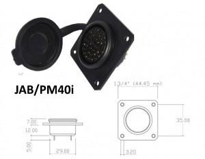 Conector p/ Painel JAB/PM40i com 40 contatos fêmea