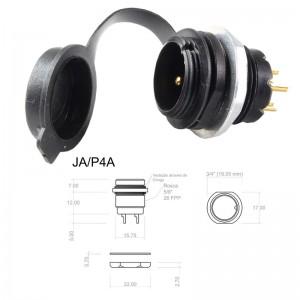 Conector p/ Painel JA/P4A 4 com contatos macho IP67