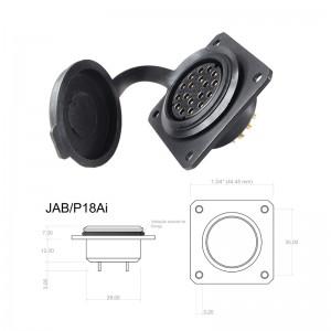 Conector p/ Painel JAB/P18Ai com 18 contatos fêmea IP67