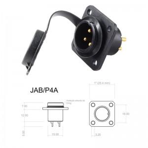 Conector p/ Painel JAB/P4A com 4 contatos macho IP67