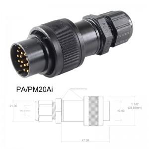 Conector p/ Cabo PA/PM20Ai com 20 contatos macho IP67