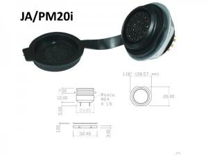 Conector p/ Painel JA/PM20i  com 20 contatos fêmea