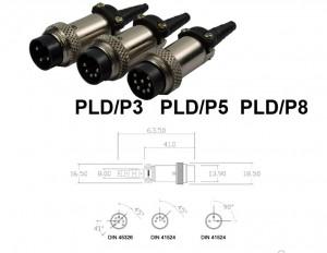 Conector Macho - PLD/P3 PLD/P5 PLD/P8