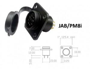 Conector p/ Painel JAB/PM8i com 8 contatos fêmea