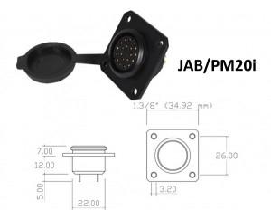 Conector p/ Painel JAB/PM20i com 20 contatos fêmea