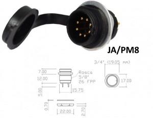 Conector p/ Painel JA/PM8  com 8 contatos macho