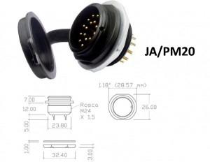 Conector p/ Painel JA/PM20 com 20 contatos macho