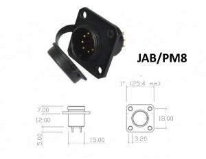 Conector p/ Painel JAB/PM8 com 8 contatos macho