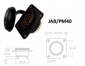 Conector p/ Painel JAB/PM40 com40 contatos macho