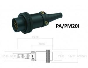 Conector p/ Cabo PA/PM20i com 20 contatos macho