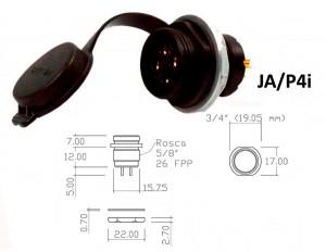 Conector p/ Painel JA/P4i com 4 contatos fêmea