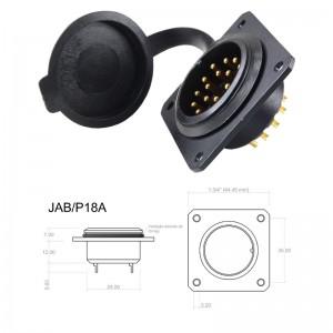 Conector p/ Painel JAB/P18A com 18 contatos macho IP67