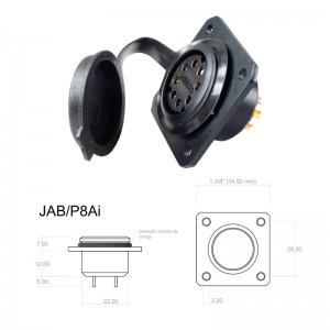 Conector p/ Painel JAB/P8Ai com 8 contatos fêmea IP67