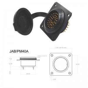 Conector p/ Painel JAB/PM40A com 40  contatos macho IP67