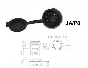 Conector p/ Painel JA/P8 com 8 contatos macho