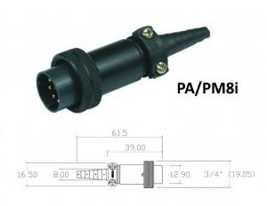 Conector p/ Cabo PA/PM8i com 8 contatos macho