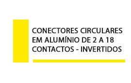 Conector Circular Aluminio 2 a 18 contatos invertidos
