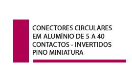 Conector Circular  5 a 40 contatos Pino Miniatura invertidos