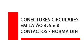 Conector Circular em latão 3, 5 e 8 contatos Norma DIN