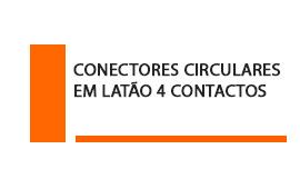 Conector Circular em latão 4 contatos