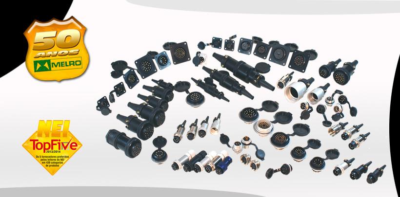 Conectores de Aluminio e Latão de 2 a 40 contatos, Knobs e Conectores Eletricos sob medida.